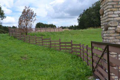 Underhållsfri staket grind